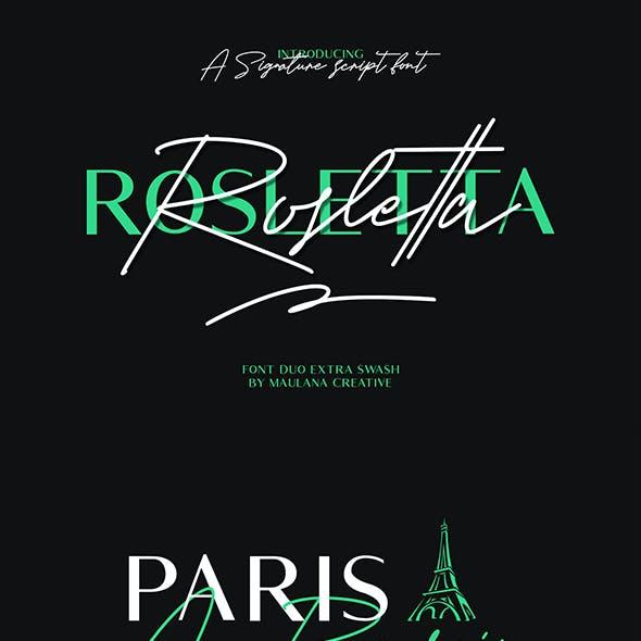 Rosletta Signature Font Duo Extra Swash