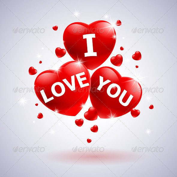 I love you with heart  - Valentines Seasons/Holidays
