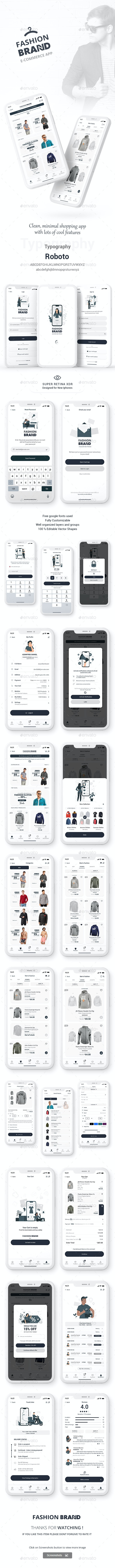 Brand Fashion - Ecommerce (Super Retina XDR Display) - User Interfaces Web Elements