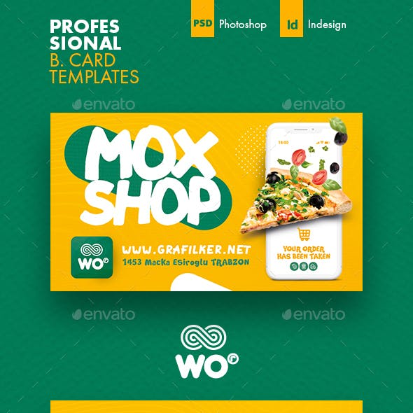 Mobile Shopping Business Card Templates