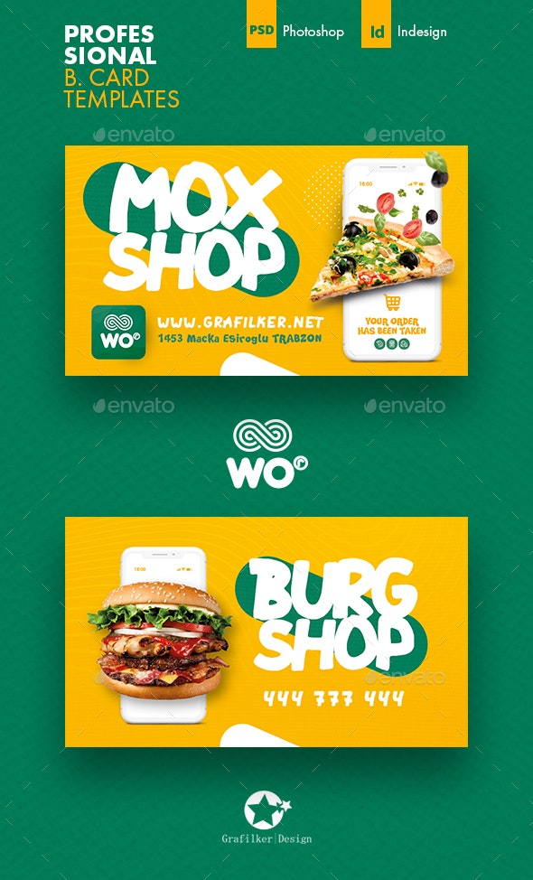 Mobile Shopping Business Card Templates - Corporate Business Cards