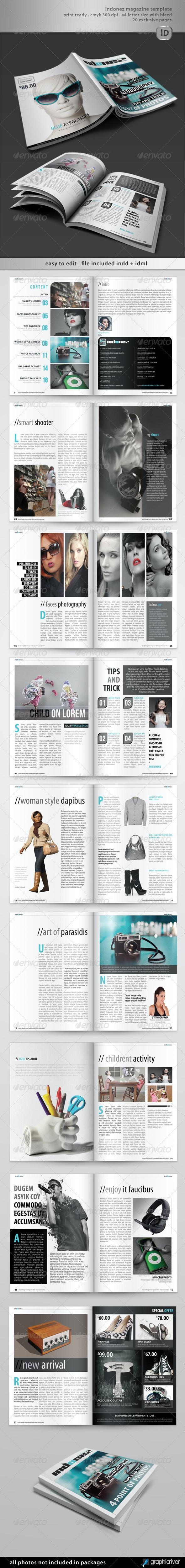 Indonez Magazine Template - Magazines Print Templates