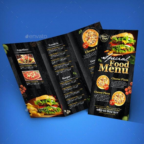 3 in 1 Restaurant Menu template