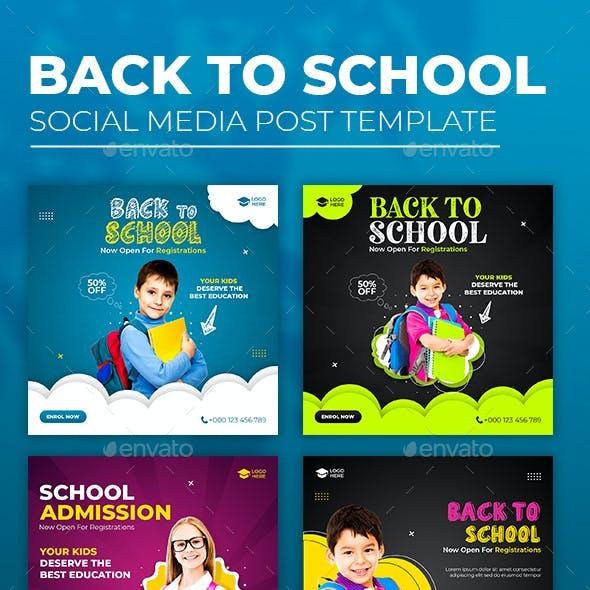 Back To School Social Media Template