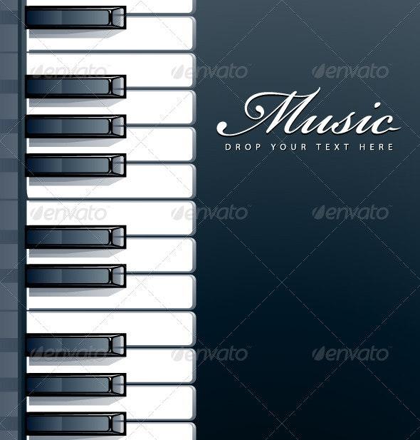 Piano keys background - Vectors