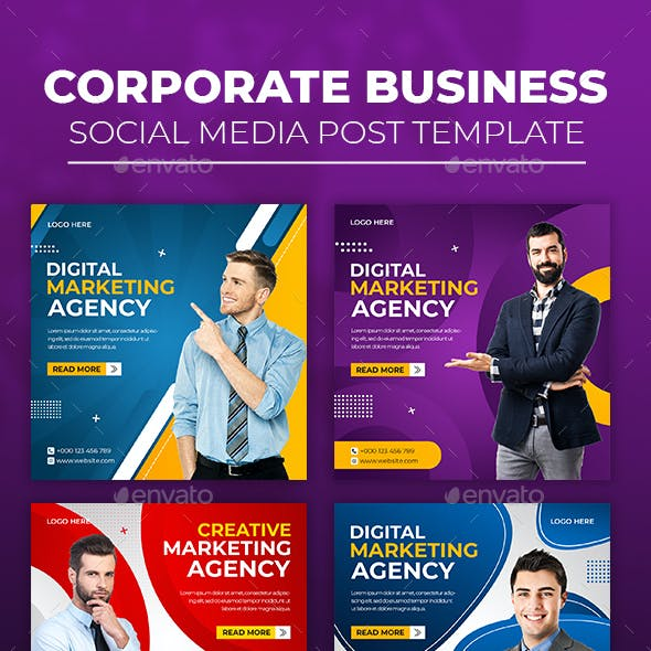 Corporate Business Social Media Template
