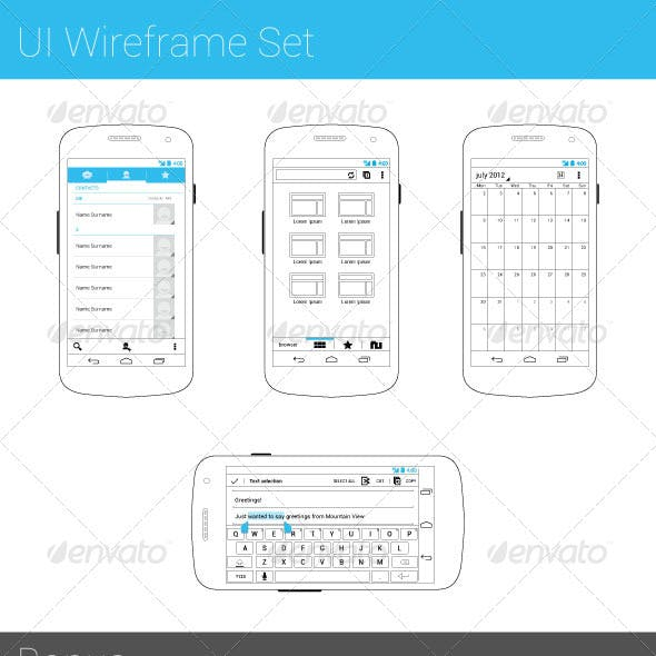 UI Wireframe Set