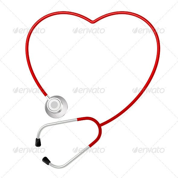 Stethoscope heart symbol