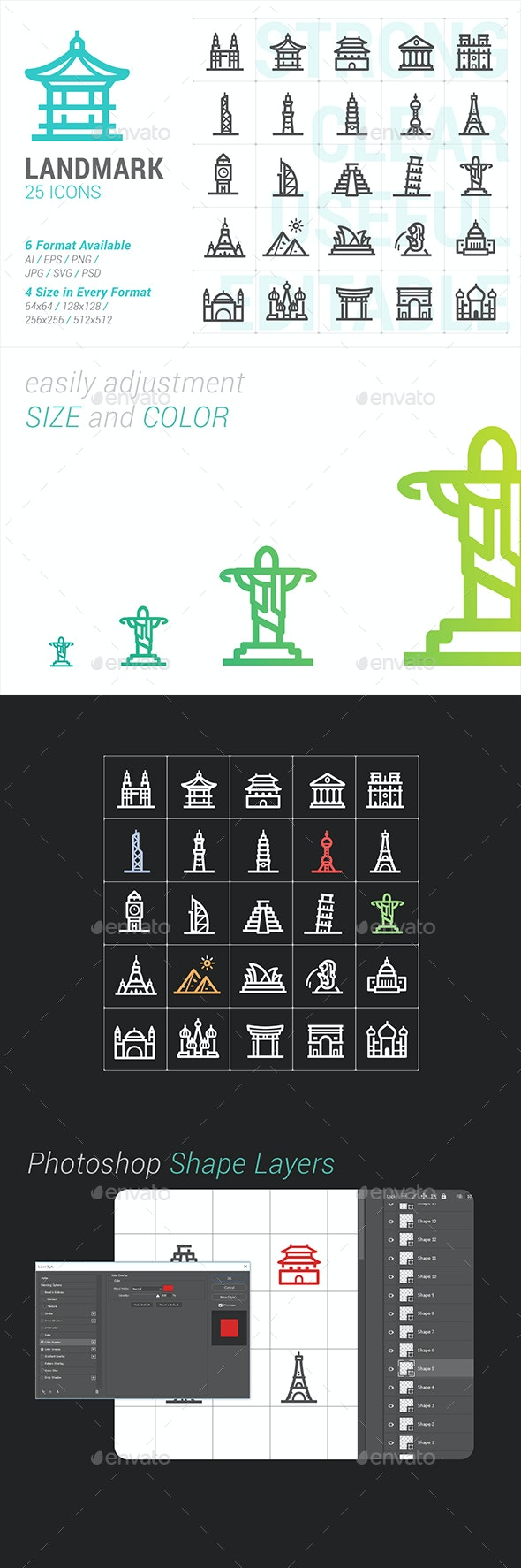 Landmark Mini Icon - Buildings Objects