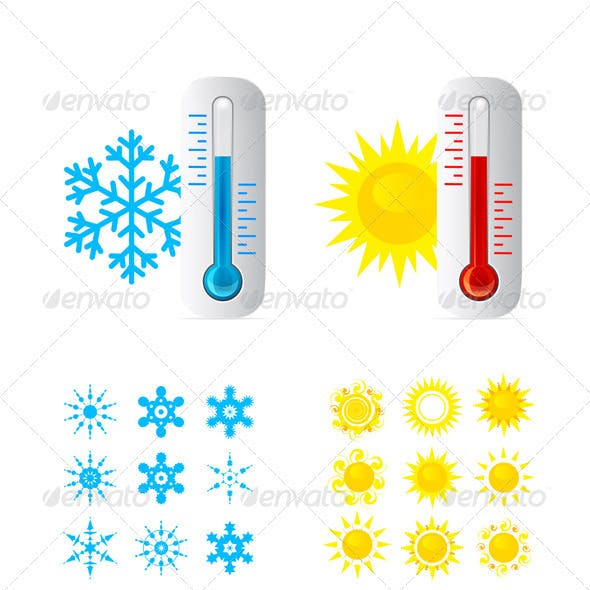 Thermometer Vector Set