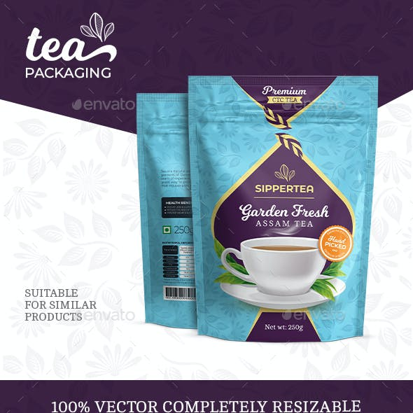 Tea Stand-up Pouch Packaging