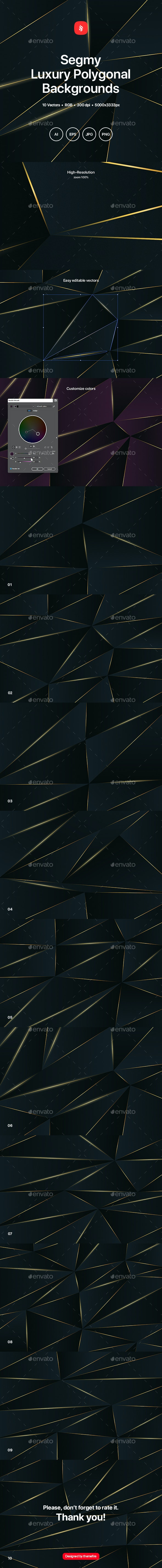 Segmy - Luxury Polygonal Backgrounds - Abstract Backgrounds