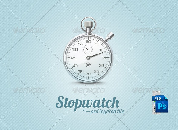 Metal Stopwatch - Objects Illustrations