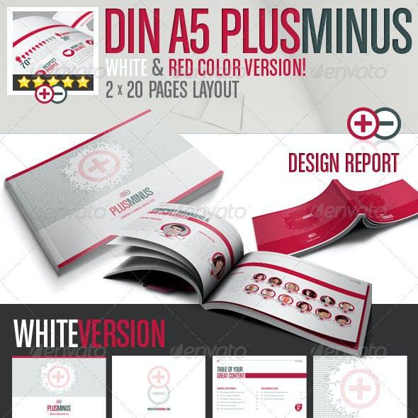 PLUSMINUS Corporate Brochure A5 // 2 Color Version