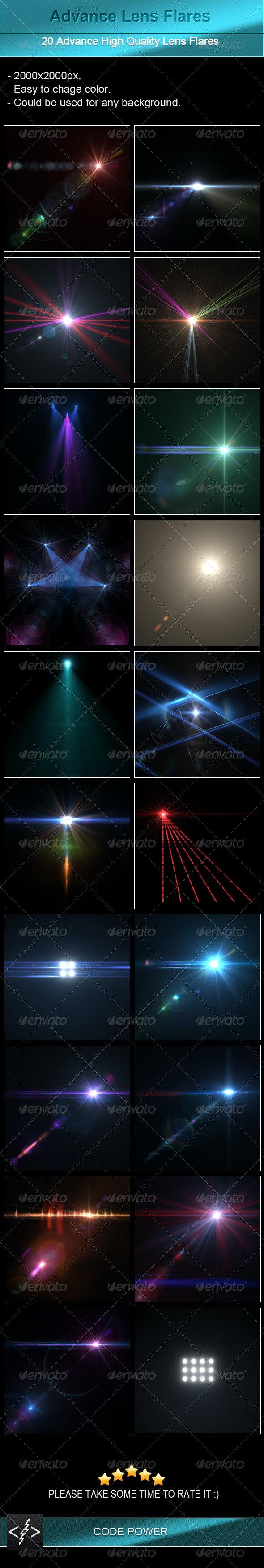 Advance Lens Flares - Decorative Graphics
