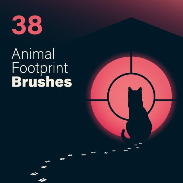 38 Animal Footprint Brushes