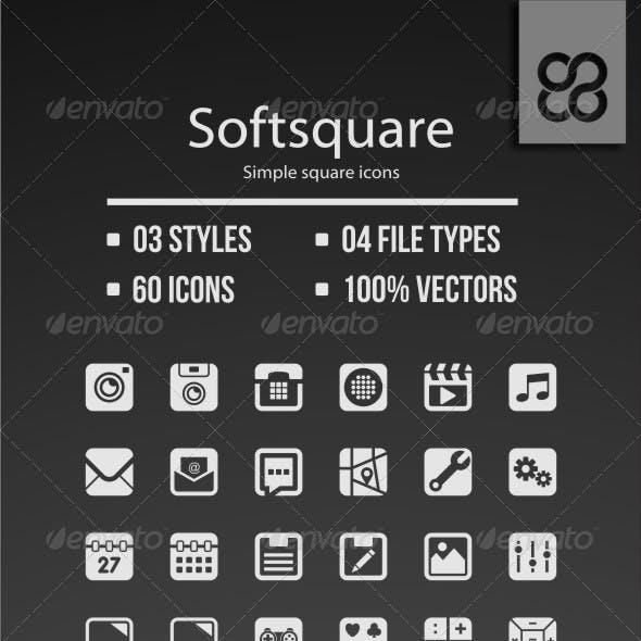 Softsquare - Simple Square Icons