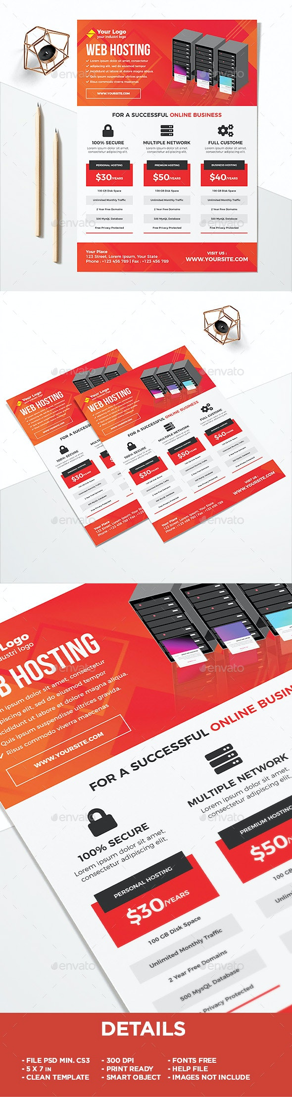 Professional Web Hosting Flyers - Corporate Flyers