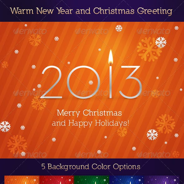 Warm New Year and Christmas Greeting