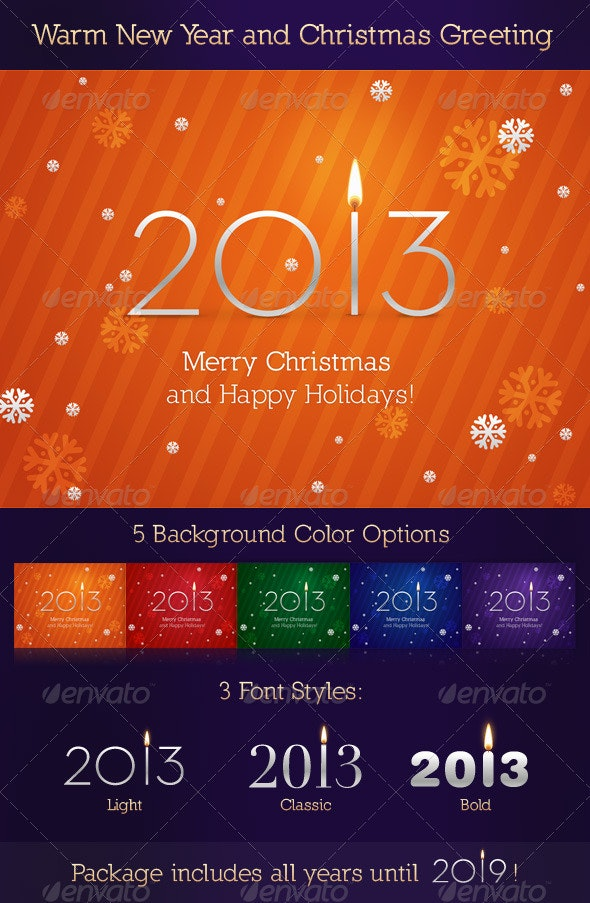 Warm New Year and Christmas Greeting - Man-made Objects Objects