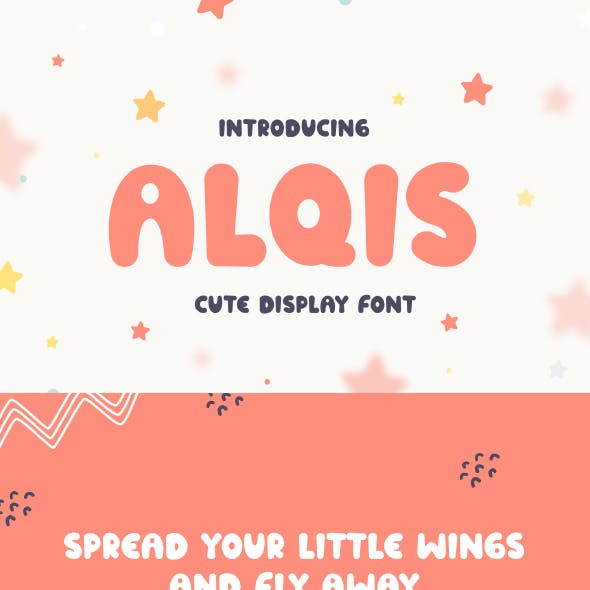 Alqis - Cute Display Font