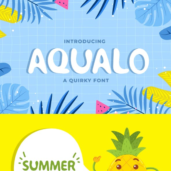 Aqualo - Cute Display Font