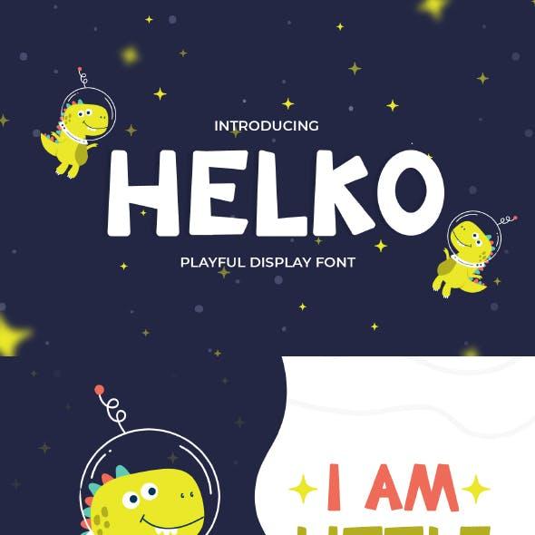 Helko - Cute Display Font
