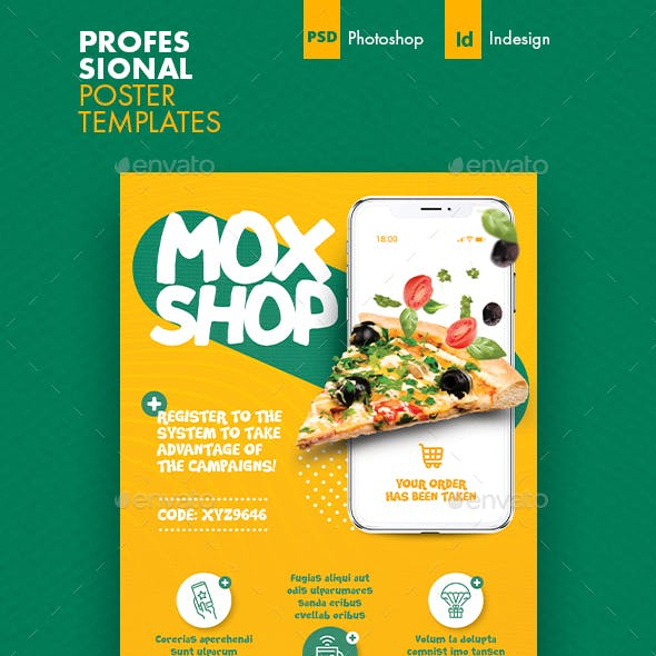 Mobile Shopping Poster Templates