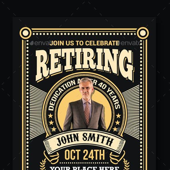 Retirement Invitation Flyer
