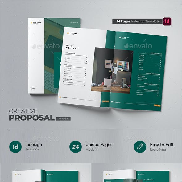 Creative Company Proposal Indesign Template