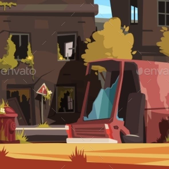 Post Apocalypse City Illustration