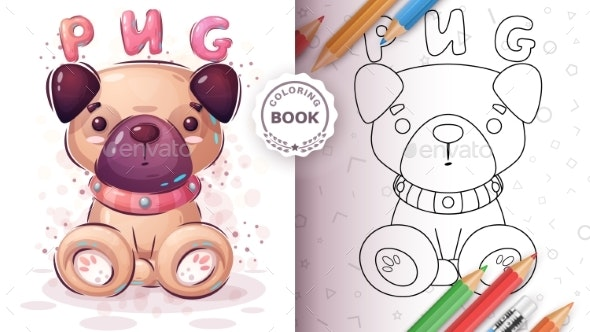 Dog Sitting Coloring Page - Animals Characters