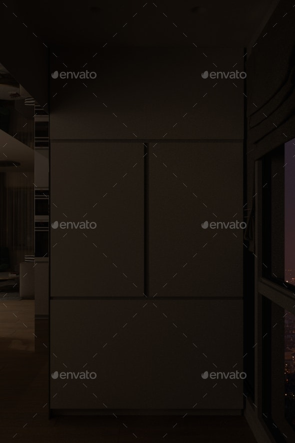 3d Render of a Kitchen Cabinet for Making Coffee - Miscellaneous 3D Renders