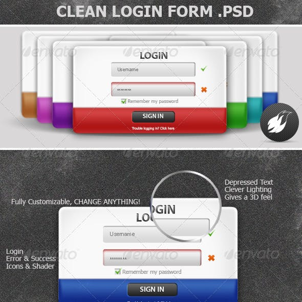 Clean login Form V.0
