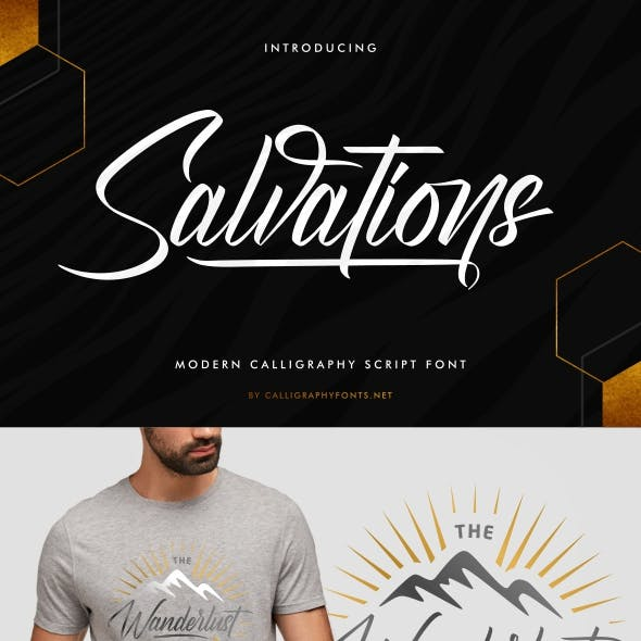 Salvations Calligraphy Font