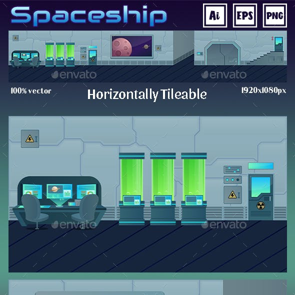 Game Background Spaceship