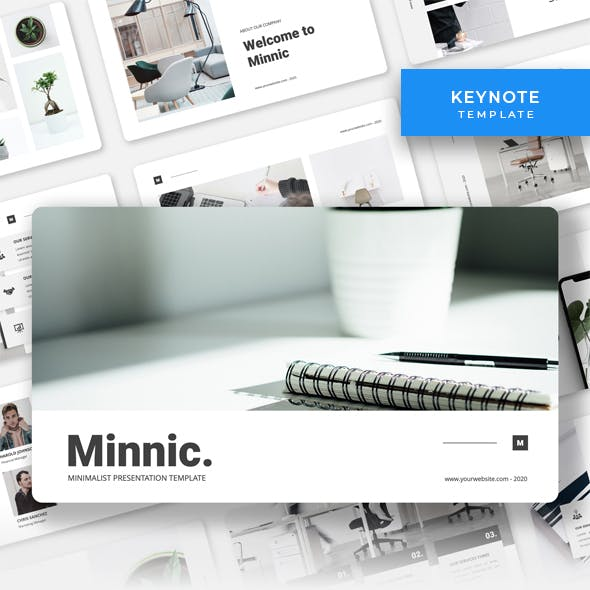 Minnic - Minimalist Business Keynote Template