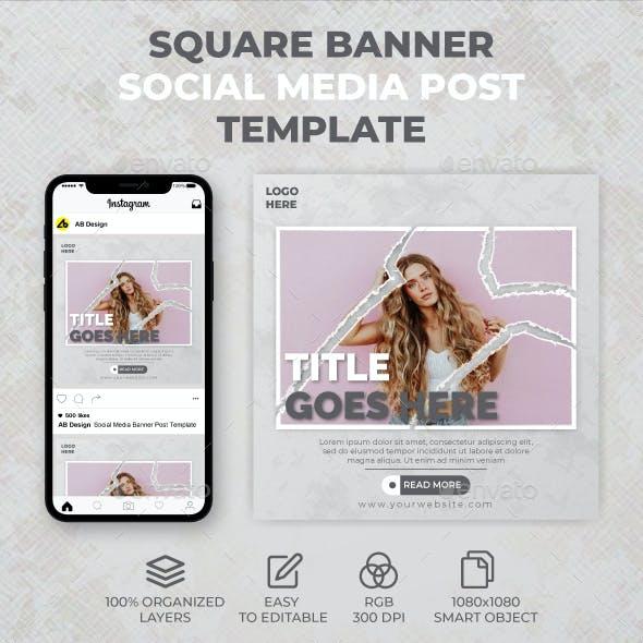 Square Banner Social Media Post Template