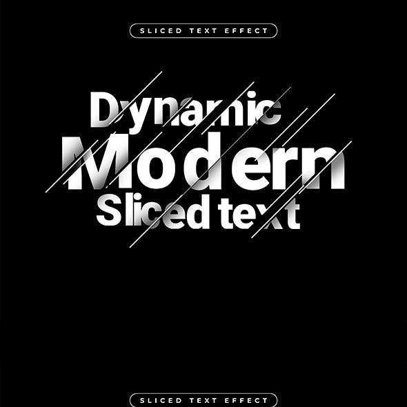 Modern Sliced Text Effect