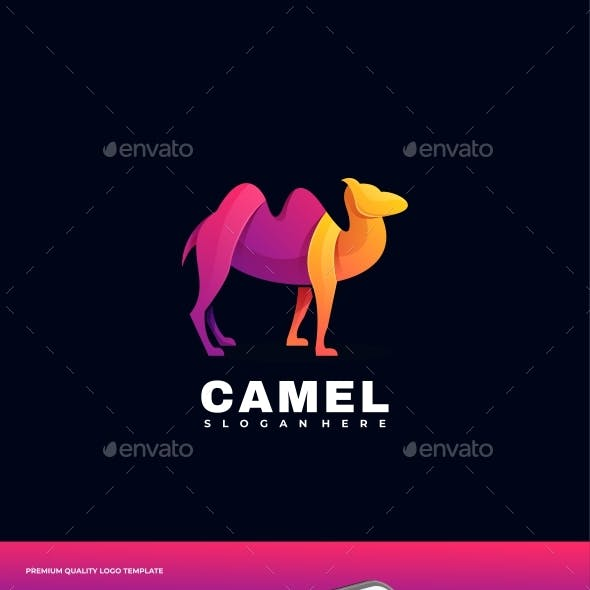 Camel Gradient Colorful Logo Template