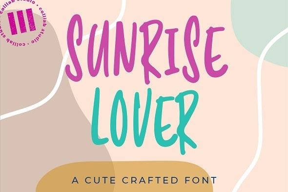 Sunrise Lover - Hand-writing Script