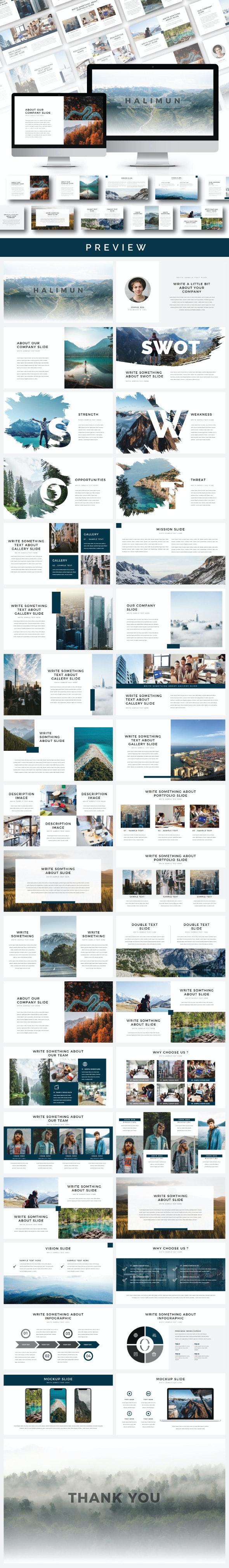 Halimun Google Slide Templates - Google Slides Presentation Templates