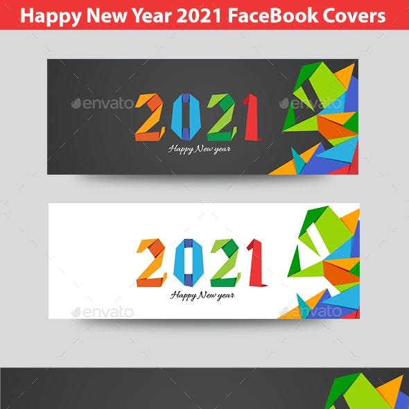 Happy  New Year 2021 FB Timeline Covers