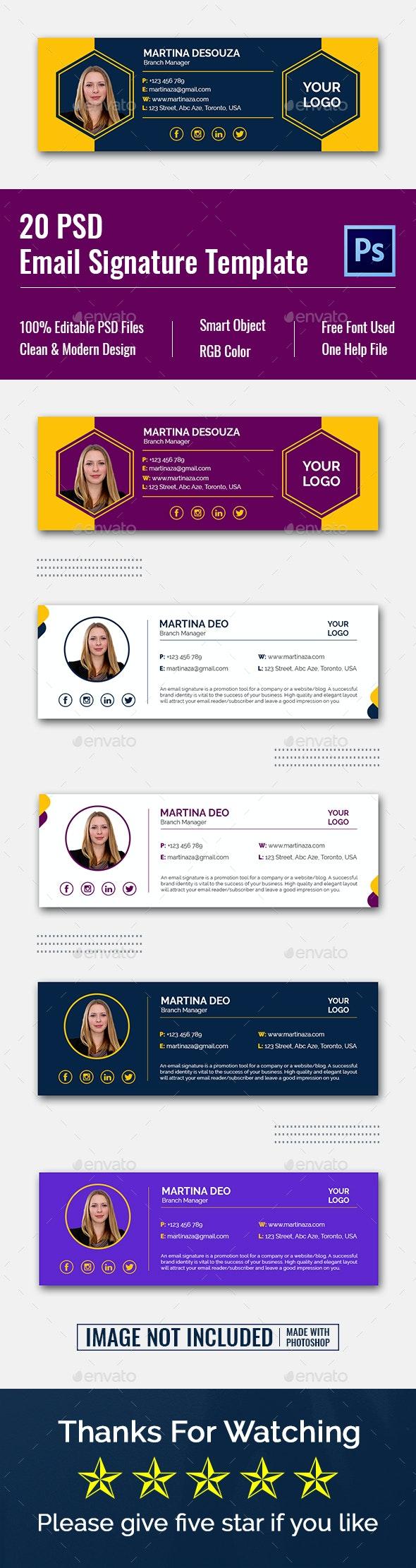 PSD Email Signature Templates - Miscellaneous Web Elements