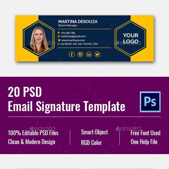 PSD Email Signature Templates