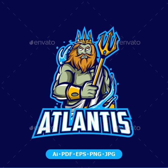 Atlantis Mascot Logo for Esport and Sport