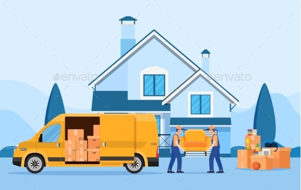 Truck for Transportation of Goods - Miscellaneous Vectors