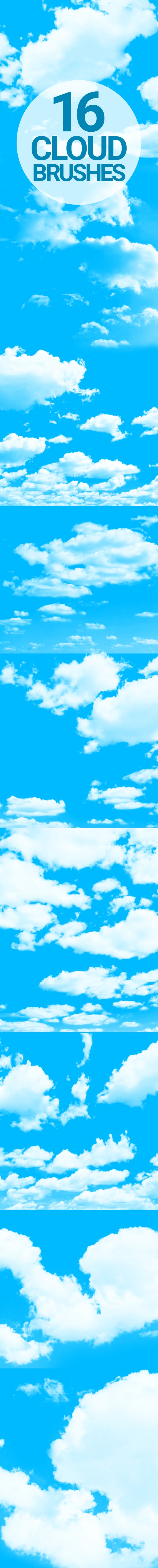 16 Cloud Brushes - Miscellaneous Brushes