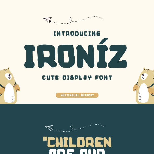 Ironiz - Cute Display Font
