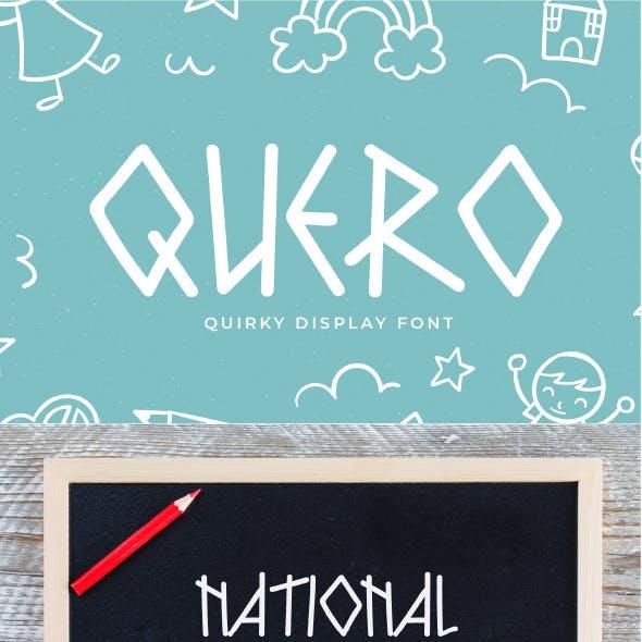Quero - Quirky Display Font